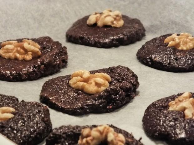 Schokoladen Cookies roh