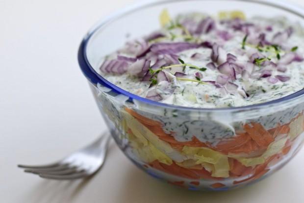 Ein schneller Schichtsalat
