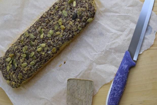Ein Low Carb Brot mit Leinsamen