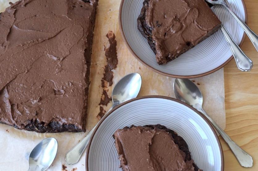 Saftiger Low Carb Zucchini-Schokoladenkuchen