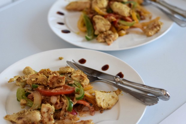 Low Carb Huhn auf Paprika