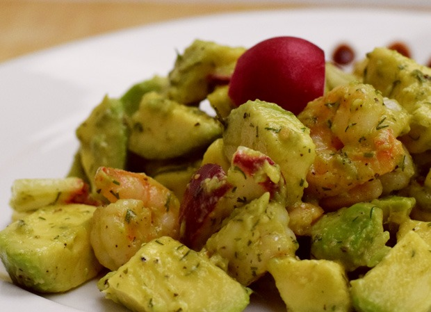 Garnelen Avocado Salat
