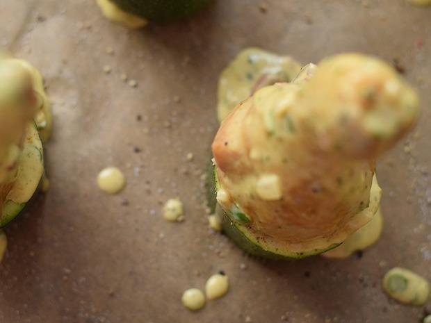 Zucchinihähnchen in Mayo