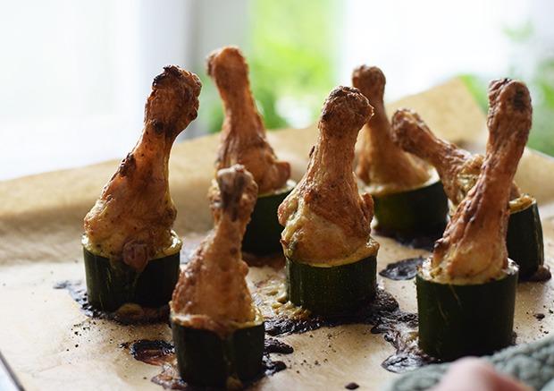 Zucchinihähnchen frisch aus dem Ofen