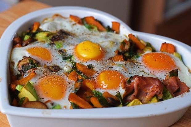 Eier aus dem Ofen