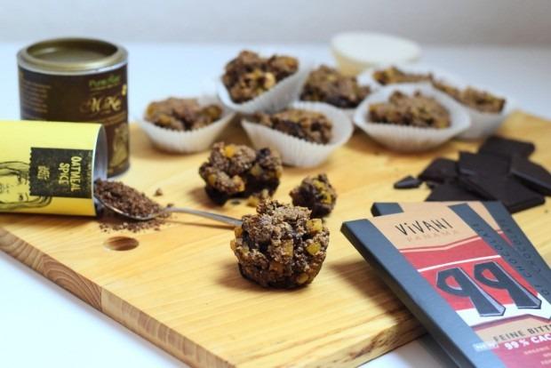 Low Carb Gewürzmuffins mit 99%iger Schokolade