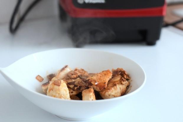Schnelle cremige Spinatsuppe mit Huhn