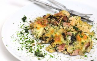 Gut zum Vorbereiten hühnchen champignon auflauf rezept low carb Foodblog München