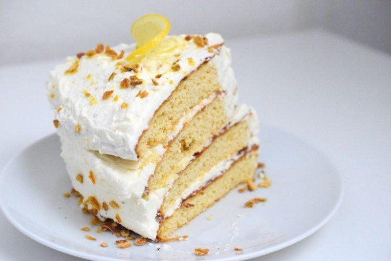 Low Carb Zitronen Torte Kohlenhydratarm Sahne Backblog München
