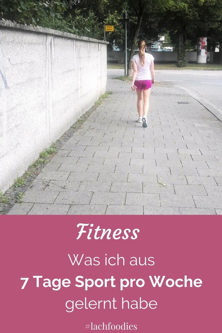 7 tage sport fitness viel bewegung abnehmen fit werden Jeden Tag Sport