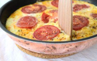 Frittata mit Artischocken, Speck und Zwiebeln | Low Carb Frühstück