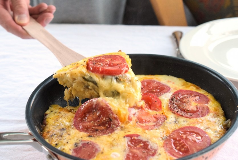 frittata mit artischocken speck und zwiebeln low carb fr hst ck lachfoodies fit gesund. Black Bedroom Furniture Sets. Home Design Ideas
