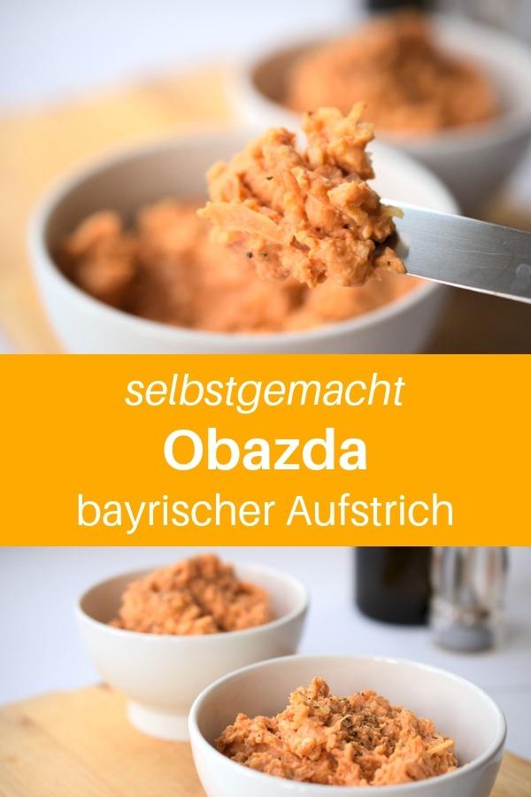 Heute gibt es ein Rezept aus meiner Heimat. Einen Aufstrich, den man hier besonders gerne zu einem Stück Brot isst: Das Obazda Rezept, bzw. Obatzter Rezept, Obaztda Rezept. Es gibt unterschiedliche Schreibweisen. Dieses Rezept ist mein absoluter Favorit für diesen bayrischen Aufstrich mit Camembert und Paprika. Lass es dir schmecken! #bayrisch