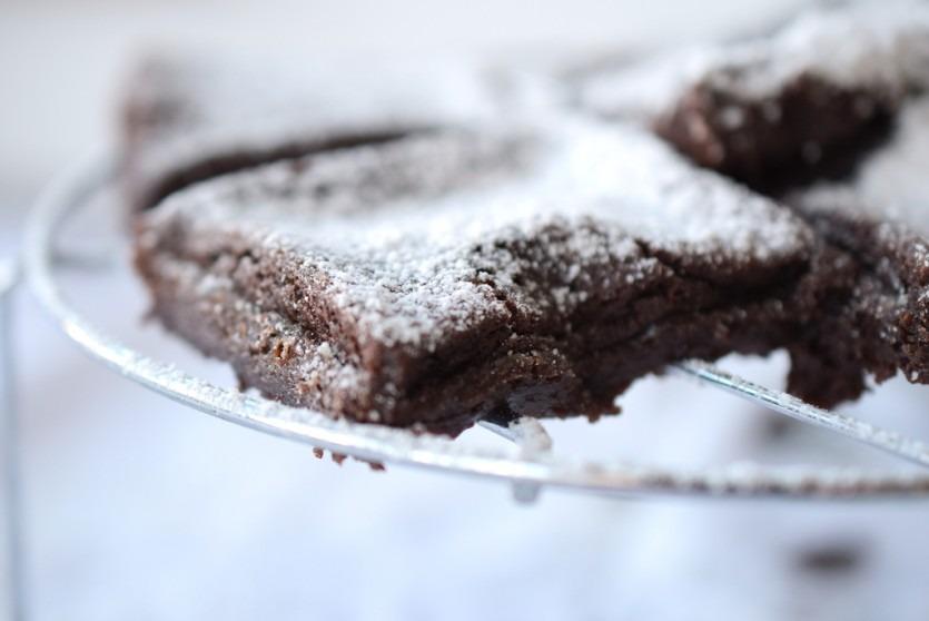 Schoko Espresso Kuchen ohne Zuckker Low Carb Kladdkaka Foodblog München