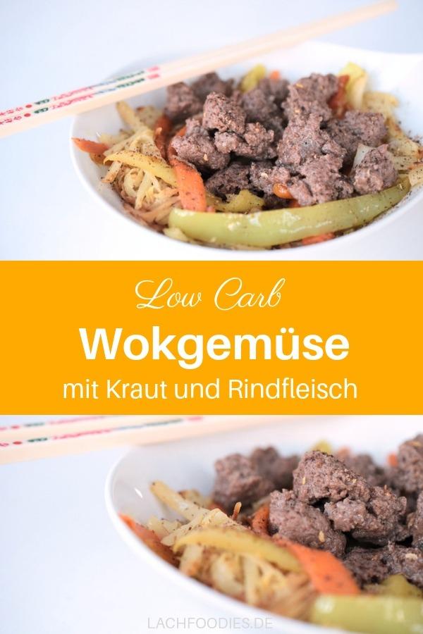 Low Carb Wokgemüse auf deutsche Art. Weißkraut mit Paprika und Rindfleisch. Ein herrlich würziges Rezept mit Wintergemüse für ein schnelles, gesundes Abendessen. Die Zubereitung ist einfach, schnell und unkompliziert. Einfach alles klein schneiden, in den Wok (alternativ die Pfanne) werfen, warten und genießen. Ein leckeres Rezept für die gesunde Ernährung. Lass es dir schmecken! #lachfoodies #lowcarbrezept #gesundkochen #kraut #fitgesundundglücklich