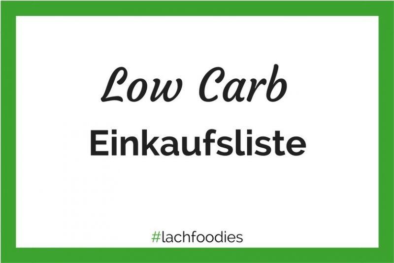 Low Carb Einkaufsliste