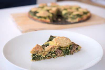 Low Carb: Rindfleisch-Spinat-Kuchen