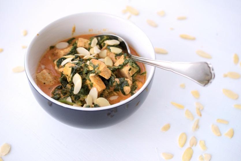 Herrliche Huhn-Kokos-Spinat-Schale low carb glutenfrei schnell unkompliziert abendessen mittagessen lecker rezept92_01