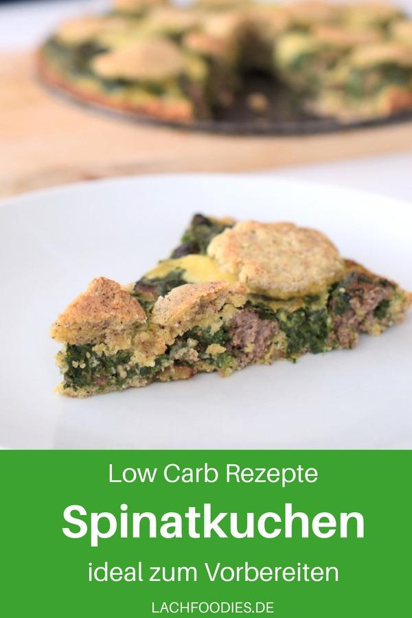 Ein leckeres Low Carb Spinatkuchen Rezept mit Rindfleisch und viel Käse. Dieses Low Carb Kuchenrezept ist ideal zum Vorbereiten. Low Carb unterwegs ist mit der richtigen Vorbereitung gar nicht so kompliziert. Abends gesund backen und tagsüber oder low carb im Büro genießen. Lass es dir schmecken!  #lachfoodies #lowcarbrezept #gesundkochen #fitgesundundglücklich #rezept #bürorezept