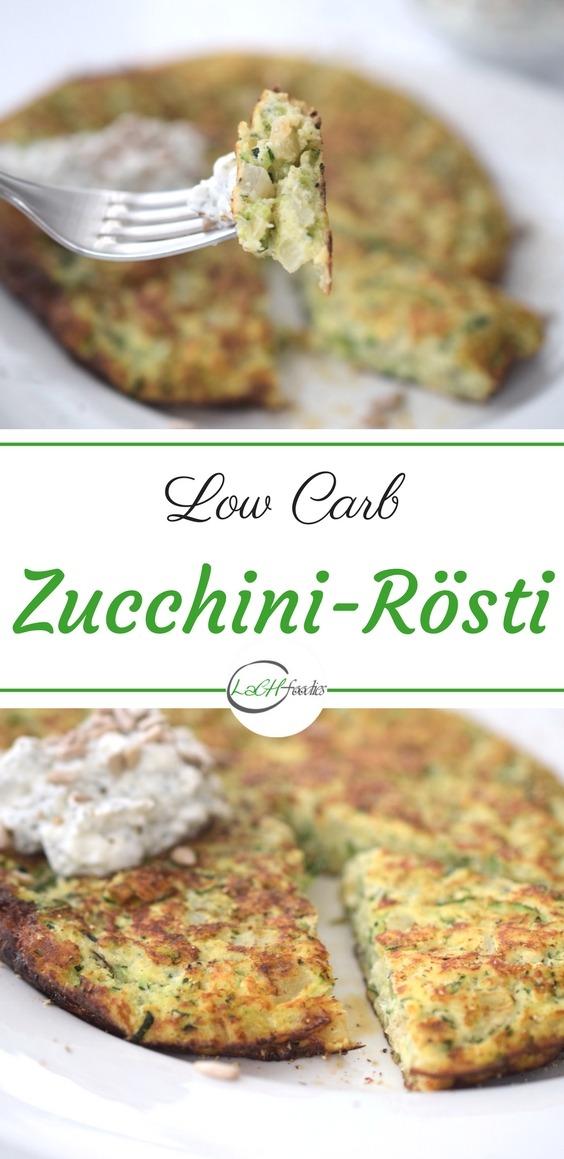 Dein Low Carb Mittagessen: Zucchini-Rösti