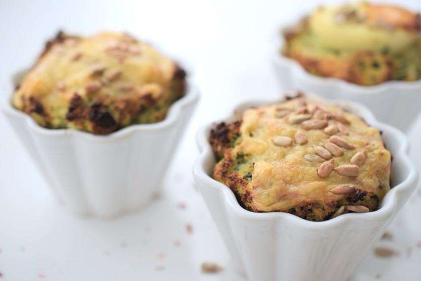 Herbstliche Low Carb Spinat-Muffins ohne Mehl glutenfrei