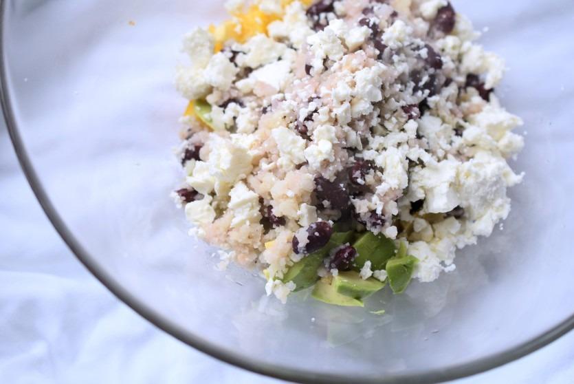 Himmlisch frischer Blumenkohl-Avocado-Salat Low Carb Rezept