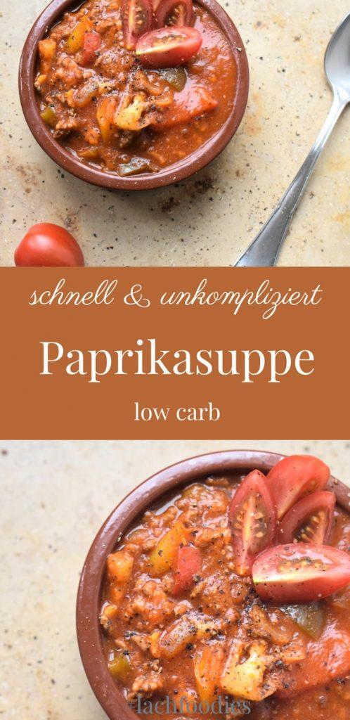 Schnelle Paprikasuppe mit Hackfleisch Rezept Low Carb