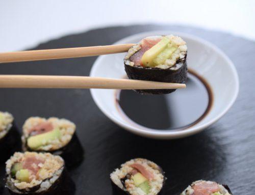 Low Carb Sushi mit Blumenkohlreis