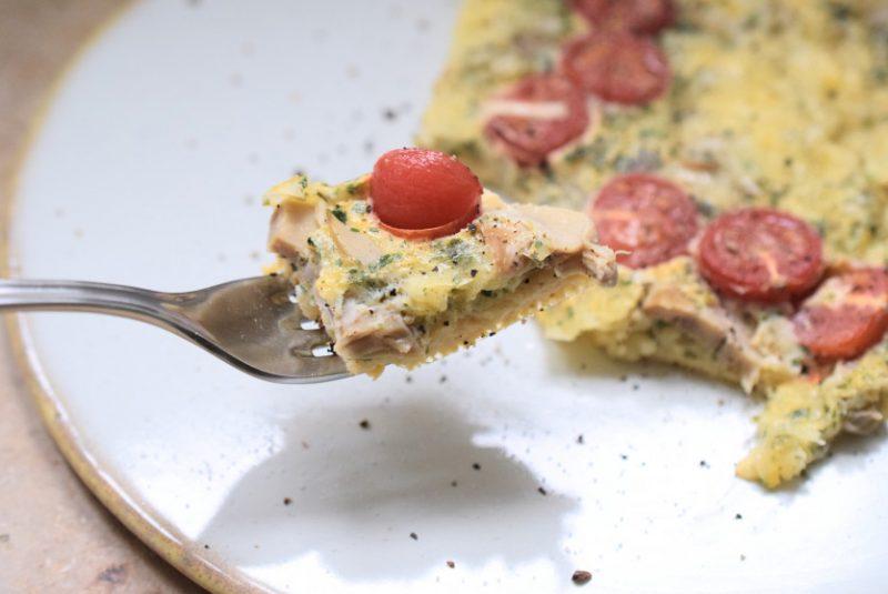 Low Carb Eierauflauf zum Frühstück Rezept ohne Kohlenhydrate