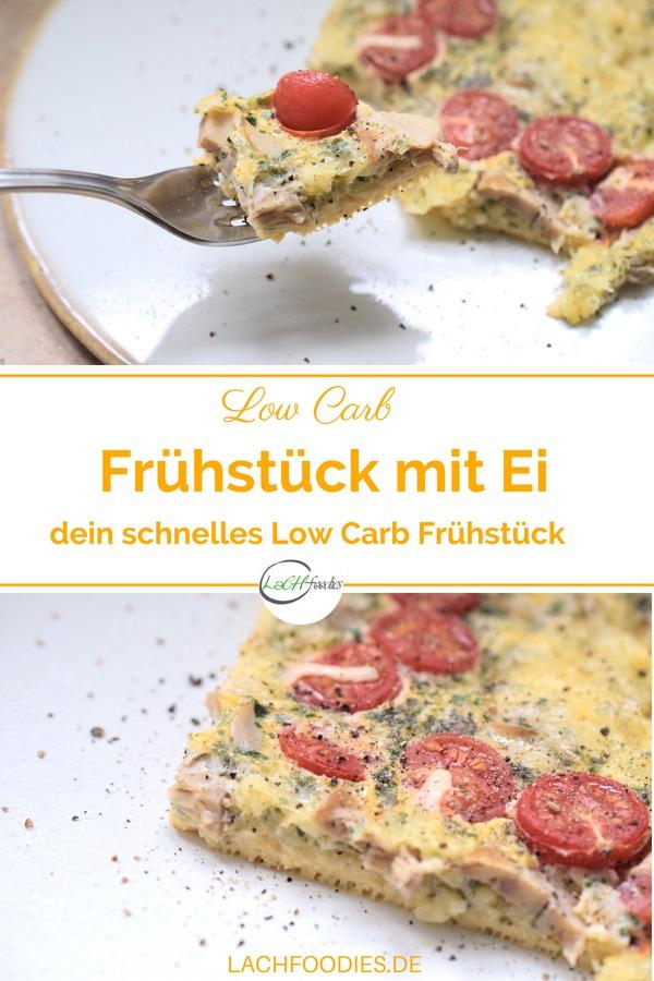 Einfaches Low Carb Rezept mit Ei für dein schnelles Low Carb Frühstück. Einfach alle Zutaten vermengen, in den Backofen schieben und schon ist dein gesundes Frühstück fertig. Ein herzhaftes Low Carb Frühstück zum Mitnehmen. #lowcarbrezept #lowcarbfrühstück #lachfoodies