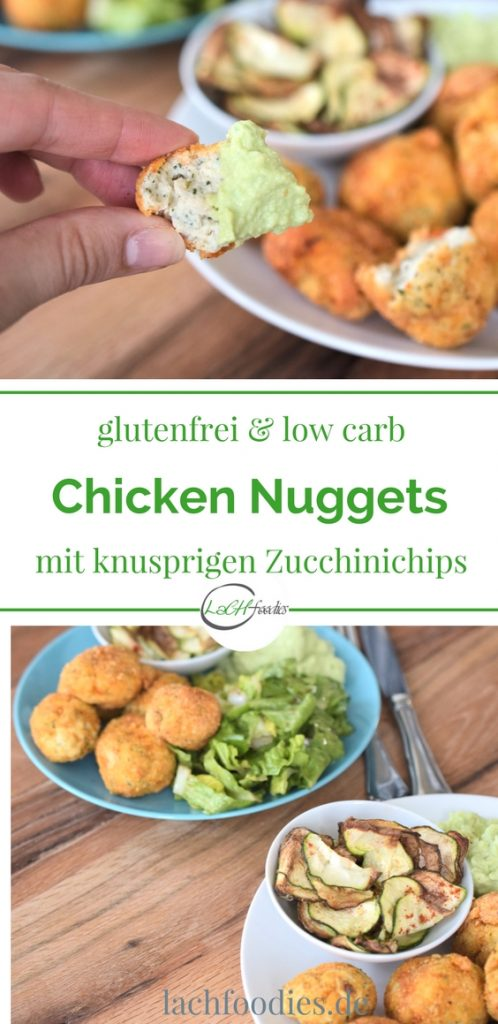 Low Carb Chicken Nuggets mit knusprigen Zucchinichips