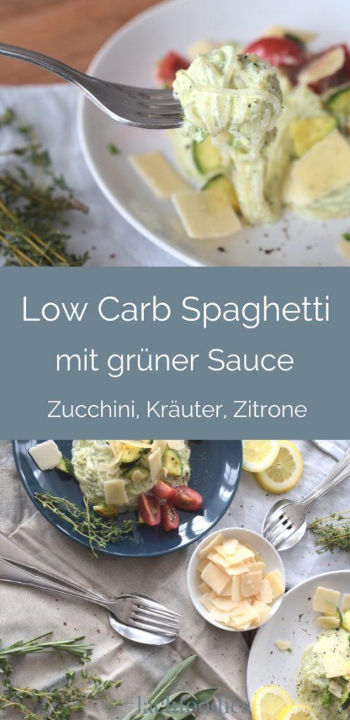 Frische Low Carb Spaghetti mit Kräutersauce