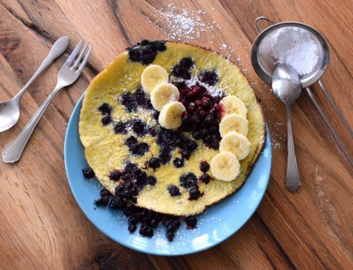 Low Carb Blaubeer-Pfannkuchen (mit Video)