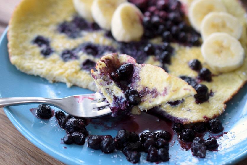 Low Carb Blaubeer-Pfannkuchen Rezept zuckerfrei