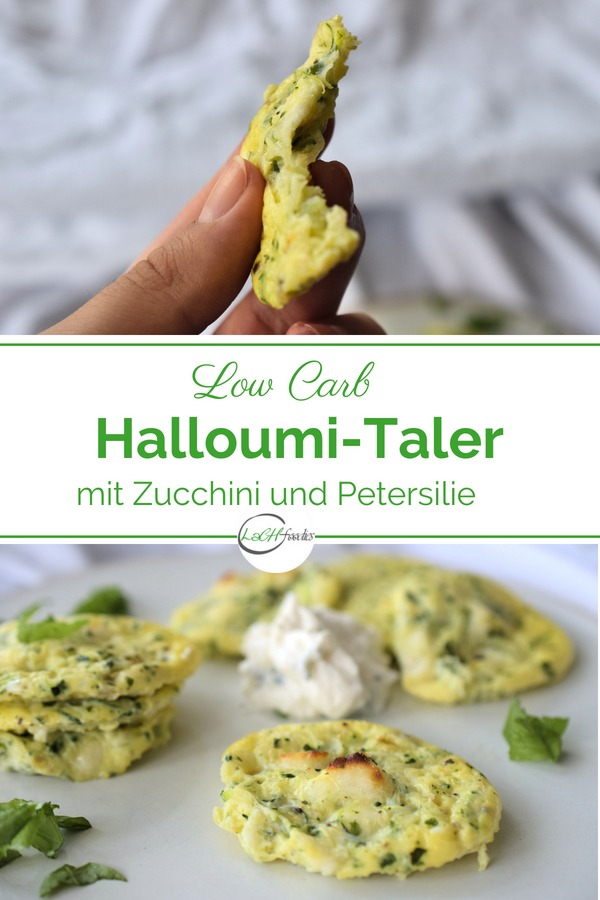 Hmm, wie das duftet. Hier findest du das Low Carb Halloumi Rezept für Zucchini-Halloumi-Taler mit Kräutern. Du bereitest diesen Halloumi Snack aus nur wenigen Zutaten zu. Ein einfaches Rezept für einen gesunden Snack zwischendurch ohne Kohlenhydrate, ohne Mehl, ohne Gluten. Lass es dir schmecken! #gesundersnack #snack #gesundkochen #gesundbacken #halloumi #lowcarbrezept #lachfoodies
