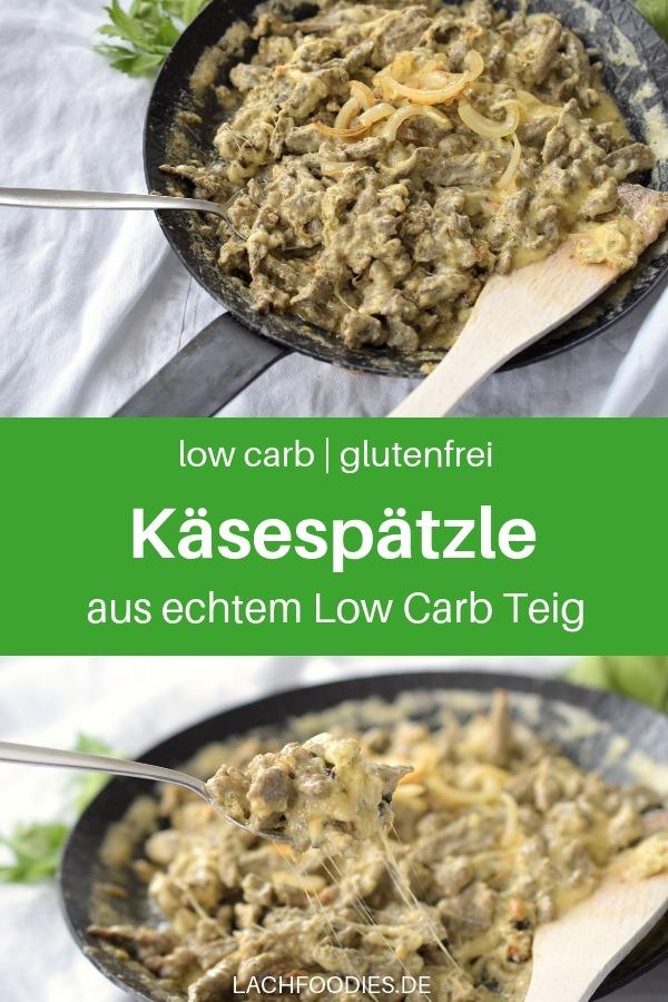 Hast du Lust auf Low Carb Käsespätzle mit extra viel Käse und Röstzwiebeln? Dann pass mal auf. Hier findest du ein köstliches Low Carb Spätzlerezept aus echtem Low Carb Teig. Du kannst die cremigen Käsespätzle entweder direkt aus der Pfanne essen oder im Ofen goldbraun backen. Lass es dir schmecken! #lachfoodies #lowcarbrezept #gesundkochen #fitgesundundglücklich #Spätzle