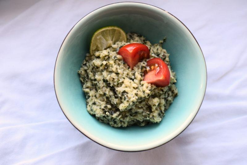 Blumenkohl-Pesto-Reis zum Einfrieren Low Carb