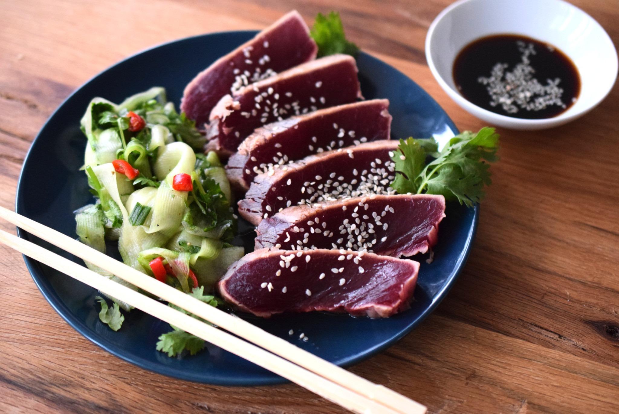 Deutsche See Sashimi Rezept mit Thunfisch