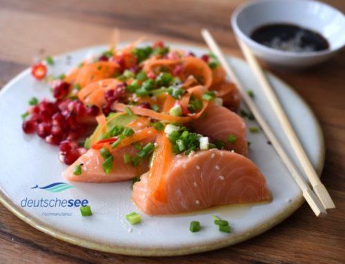 Anzeige | Deutsche See Sashimi Rezept mit Lachs und Thunfisch