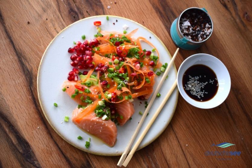 Deutsche See Sashimi Rezept mit Lachs