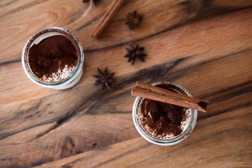 Weihnachtliches Tiramisu ohne Zucker