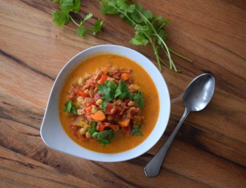 Paprika-Curry mit Koriander (vegetarisch)