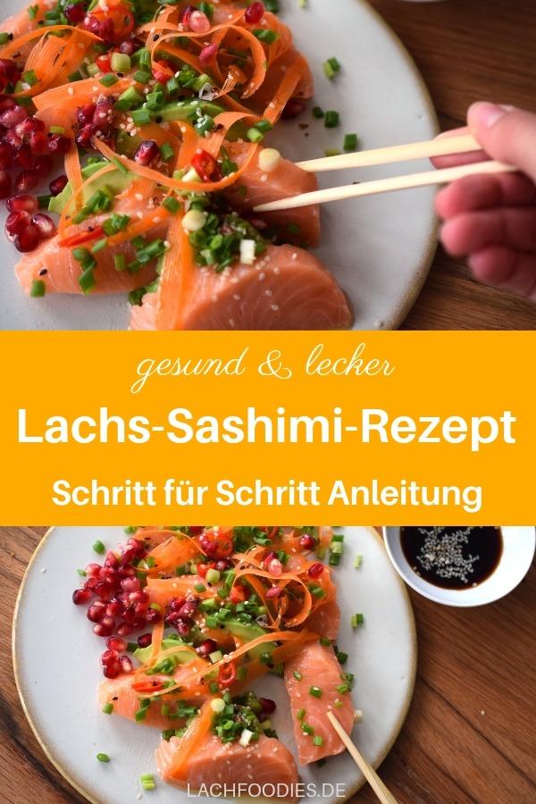 Werbung | Schon einmal probiert? Sashimi ist eine wunderbare Alternative zum klassischen Sushi. Hier findest du ein Lachs Sashimi Rezept, das erstaunlich einfach und schnell zubereitet ist. Lachs mit Granatapfel, Gemüse und einem leckeren Dressing.  Du erfährst hier auch mehr darüber, wie man Sashimi zubereitet und was du beim Fisch beachten solltest. #sashimi #rezepte #lowcarb #lachfoodies