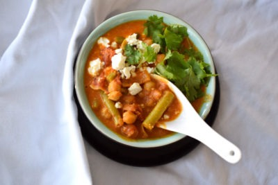 Vegetarisches Soulfood Curry mit Feta