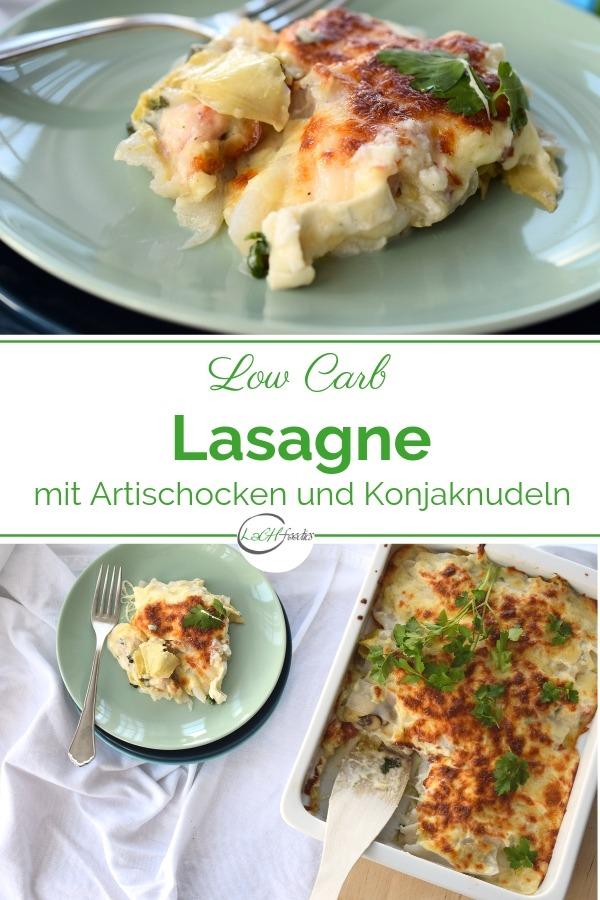 Hast du Lust auf eine Low Carb Lasagne vegetarisch? Hier findest du ein leckeres Rezept mit Konjaknudeln, Gemüse und einer Low Carb Béchamelsauce. Diese Low Carb Nudeln bestehen aus der Konjakwurzel. Zusammen mit Ziegenkäse, Gemüse und Kräutern ist das mein absolutes Lieblingsrezept, wenn es um eine vegetarische Low Carb Lasagne mit Shirataki Nudeln geht. Das Shirataki Rezept ist leicht zuzubereiten. Lass es dir schmecken! #lowcarbnudeln #lowcarbrezepte #lasagne #lachfoodies