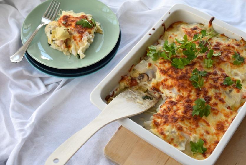 Low Carb Lasagne mit Artischocken