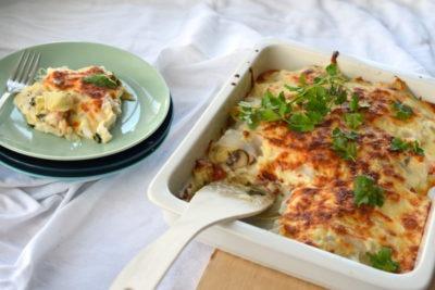 Low Carb Lasagne mit Artischocken Konjaknudeln