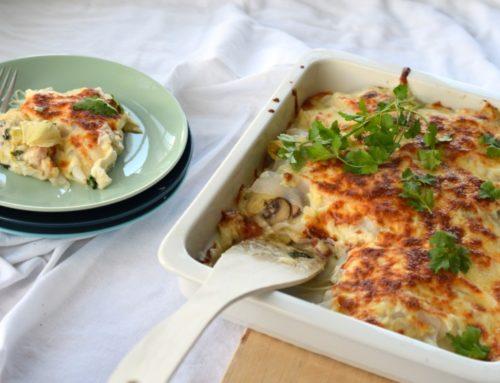 Anzeige | Köstliche Low Carb Lasagne mit Artischocken und Slendier-Nudeln