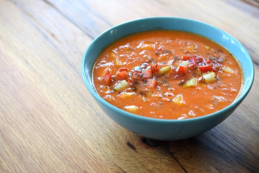 Gazpacho - kalte spanische Suppe Low Carb