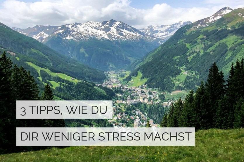 sich weniger stress machen tipps